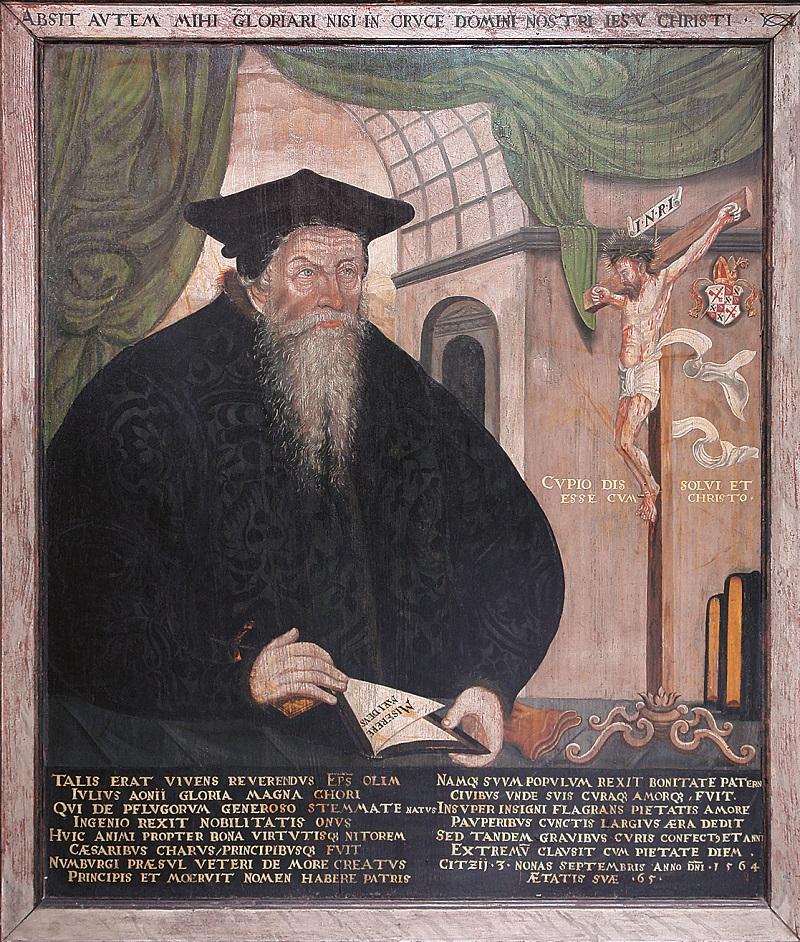 Bildnisepitaph Julius Pflug